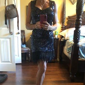 Guess navy sequin dress